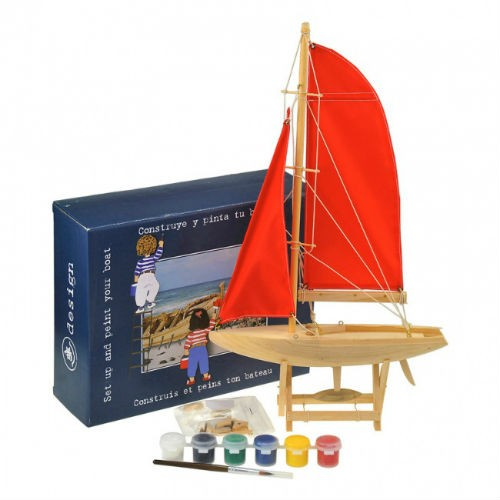 Яхта для сборки и раскраски, 25см