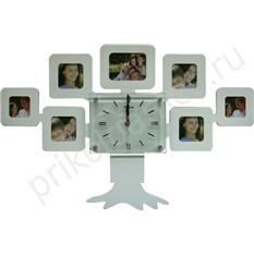 Настенные часы-фоторамка Моя семья, белые