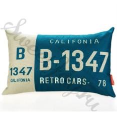 Декоративная подушка Car Number – California