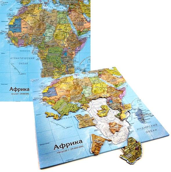 Картографический пазл «Африка»
