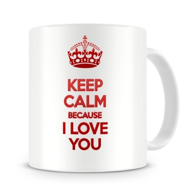 Кружка Keep calm because I love you