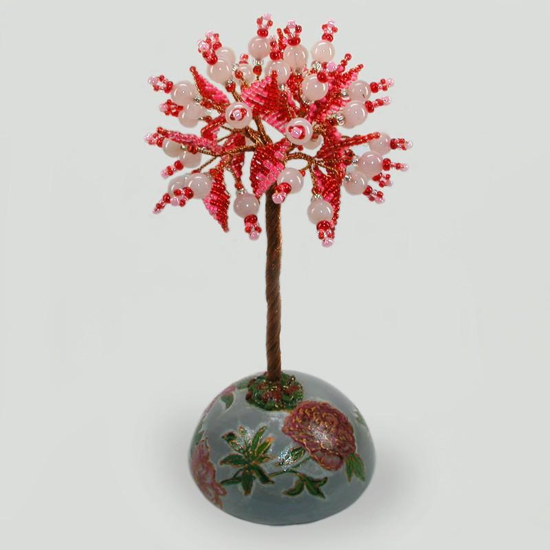 Дерево из розового кварца Счастливое