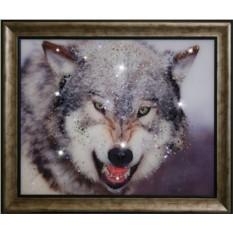 Картина Swarovski Волк