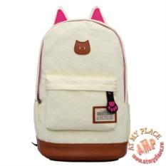 Светлый рюкзак с ушками кошки