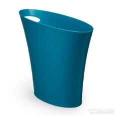 Cине-зелёный мусорный контейнер Skinny