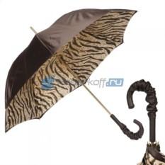 Женский зонт-трость Pasotti Morrone Leo Pure Pelle