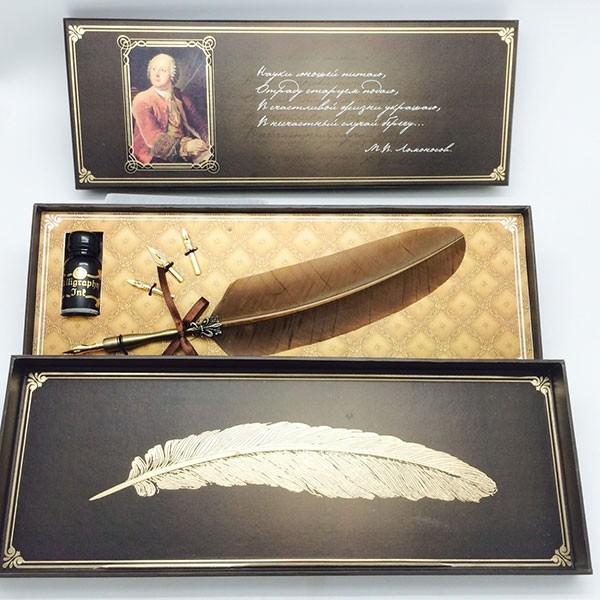 Декоративный письменный набор Ломоносов М.В.