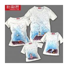 Семейные футболки Крыша мира, для родителей и сына