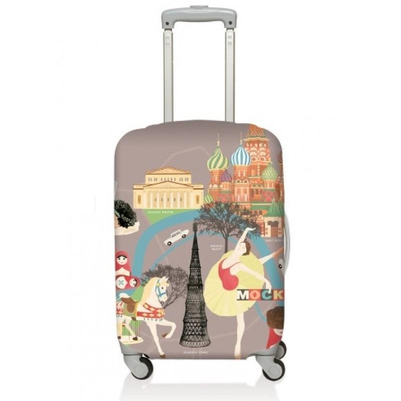 Чехол для чемодана LOQI Urban Moscow