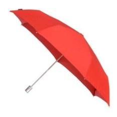 Автоматический складной зонт Wood classic (цвет - красный)