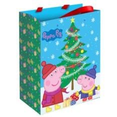 Малый подарочный пакет «Пеппа зимой»
