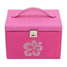 Розовая шкатулка для украшений со стразами Champ Collection