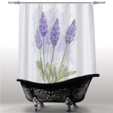 Шторка для ванны Лаванда