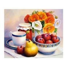Набор для вышивки стразами «Фруктовое чаепитие»