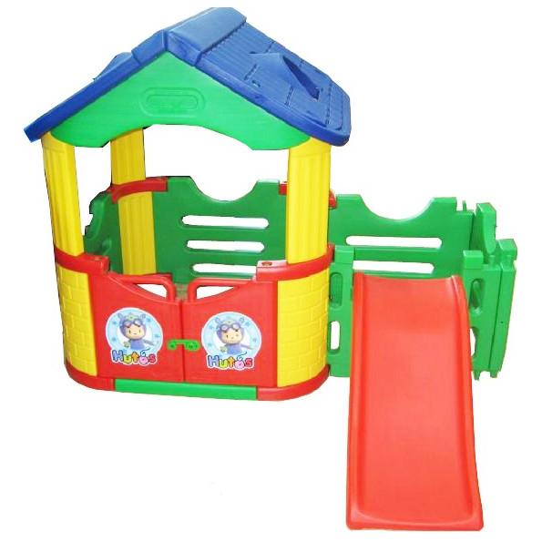 Игровой домик с горкой HAPPY BOX