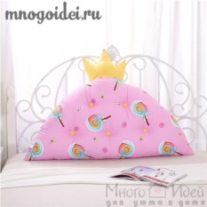 Декоративная подушка-корона Леденцовая принцесса