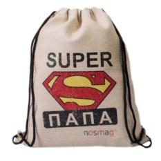 Набор носков в мешке с надписью «Супер папа»