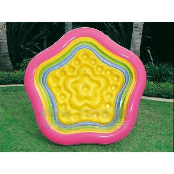 Надувной бассейн прозрачный «Летние цвета»