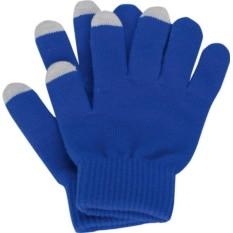 Перчатки для сенсорного экрана, синие, размер S/M