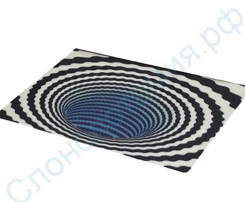 Входной 3D-коврик для дома Спираль