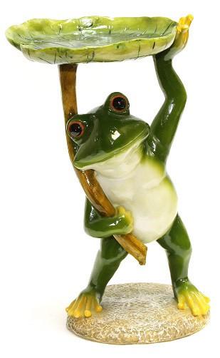 Фигура садовая Лягушка с кормушкой
