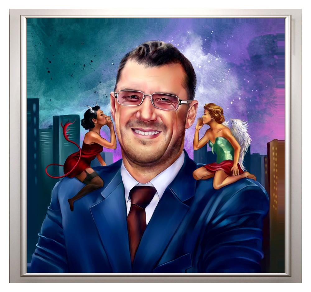 Дизайнерский портрет по фото в подарок руководителю