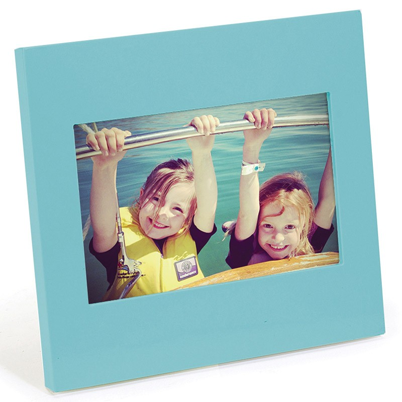 Голубая фоторамка Simple 10х10 см