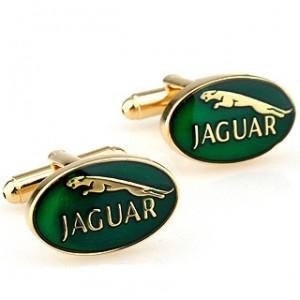 Золотые запонки Jaguar