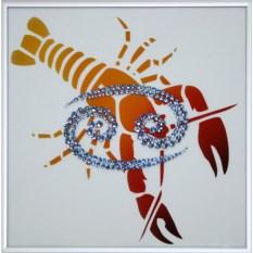 Картина с кристаллами Swarovski Рак-стихия года