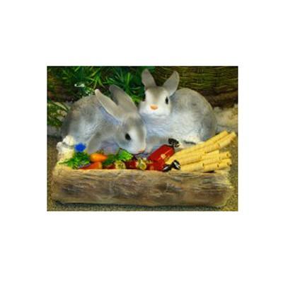Кашпо «Два зайца у корыта»