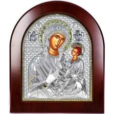 Смоленская икона Божьей Матери в серебре Одигитрия