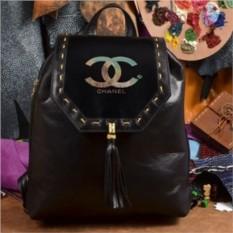 Женский кожаный рюкзак ручной работы Шанель