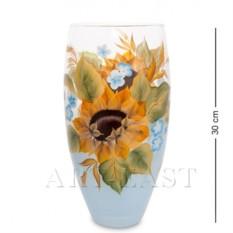 Стеклянная ваза Подсолнух