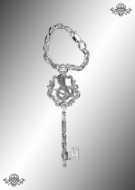 Серебряный брелок для ключей Ключ-Змея