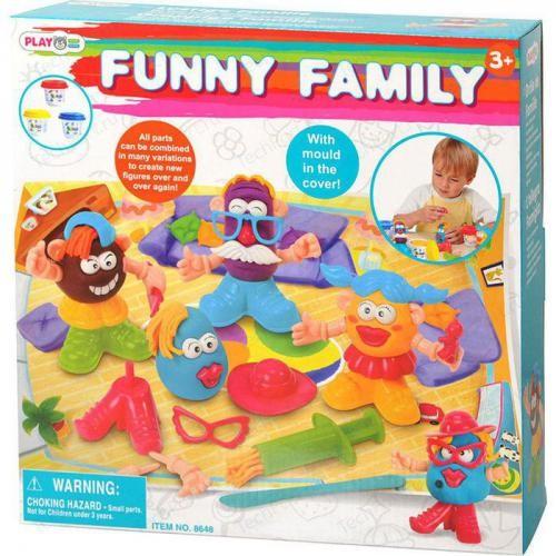 Набор с пластилином «Забавная семейка»