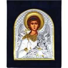 Серебряная икона в бархатном футляре Ангел Хранитель