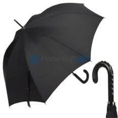 Зонт-трость Заклепка от Jean Paul Gaultier с ручкой из кожи