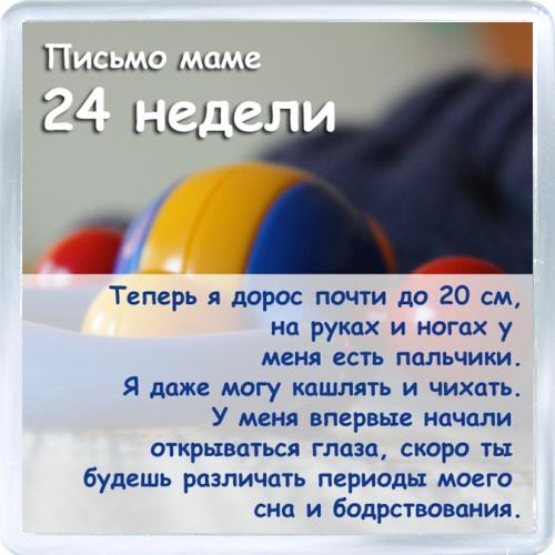Магнитный подарок: Письмо маме. 24 недель.