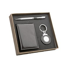 Подарочный набор другу: визитница, брелок и шариковая ручка