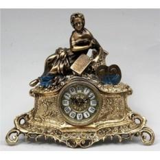 Каминные часы из бронзы Джилберто