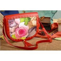 Женская красная сумка-седло Винтажный паттерн Elole Design