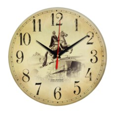Круглые античные часы Санкт-Петербург. Петр-I