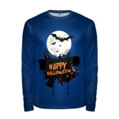 Мужской синий лонгслив Halloween