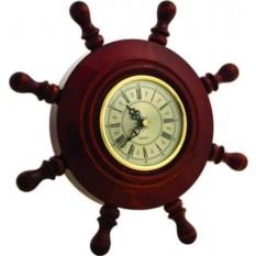 Настенные деревянные часы Штурвал