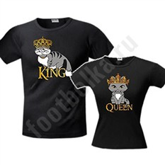 Парные футболки King сat/ Queen cat