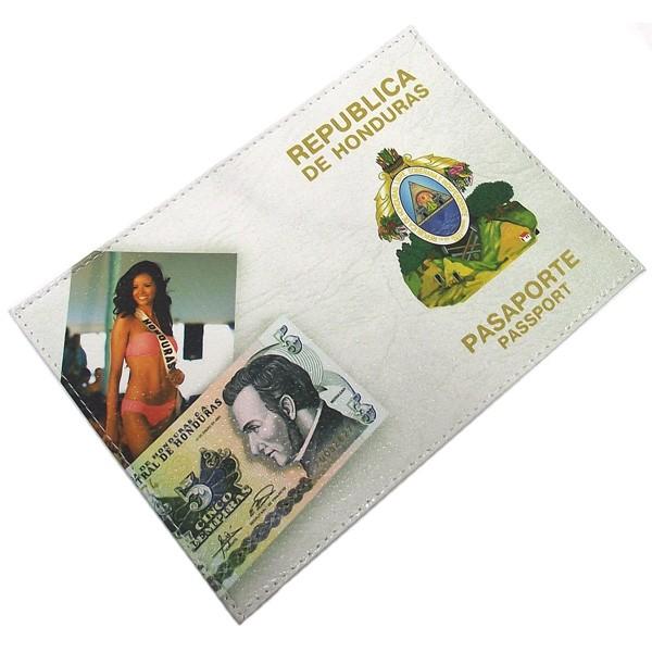 Обложка для паспорта кожаная Гондурас