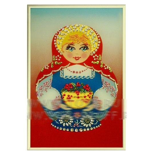 Картина Swarovski «Русский сувенир Матрешка»