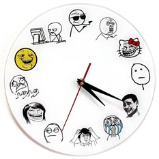 Часы настенные Тролль фейс