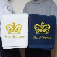 Набор парных именных полотенец Подарок для двоих
