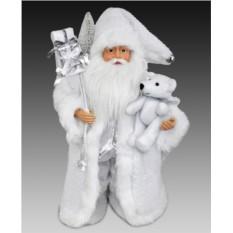 Фигура Санта в длинной белой шубе